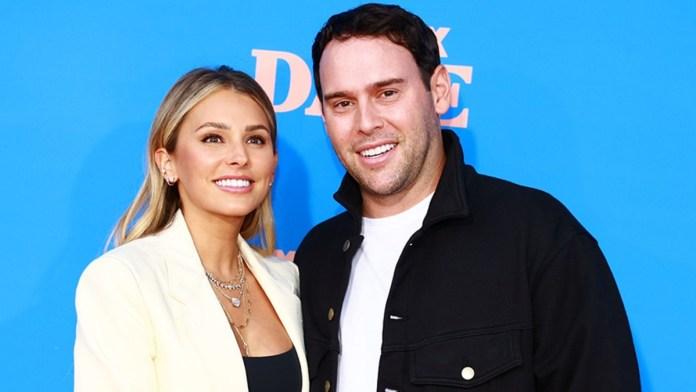 Scooter Braun with his wife Yael Cohen Braun