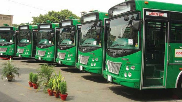 karachi green line bus