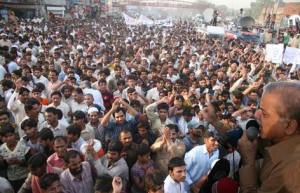 CM Punjab addressing rally against loadshedding at thokhr