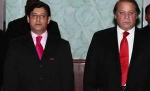 javaid malik with nawaz sharif in dubai