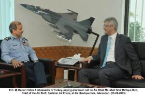 Babur Hizlan Ambassador of Turkey with  Tahir Rafique Butt,