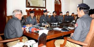 IG Khan Baig is presiding over a meeting