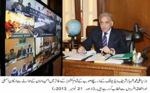 CM PUNJAB is chairing 9 divisions RPO;s ,commissioners meeting on law and order