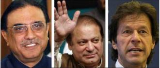 Asif Zardari,Nawaz Sharif,Imran Khan