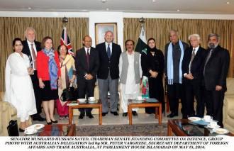 Australiaian delegation meet pak defence committee