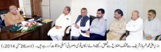 CM Punjab shahbaz sharif 26-5-14