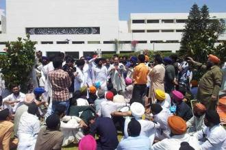 Sikh protest in Islamabad