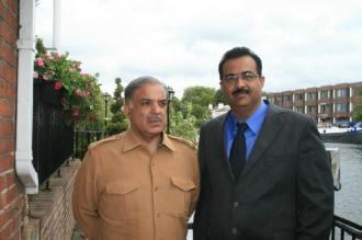 Tanvir Aslam Awan with CM