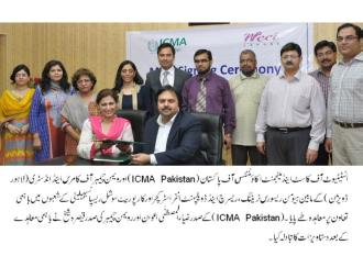 ICMA Pakistan signs MoU with WCCI