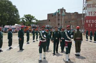 DG Rescue Punjab Dr. Rizwan Naseer hoisted flag at Emergency Services Academy