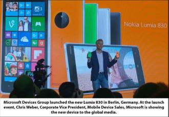 Chris Weber with Lumia 830