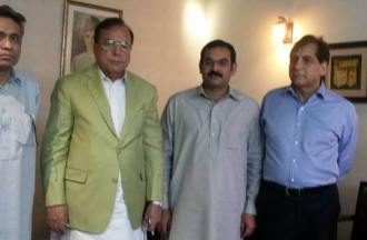 Mian Manzoor Ahmed Wattoo with Ch. Muhammad Hussain Advocate