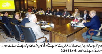 Chief Minister Punjab Shahbaz Sharif