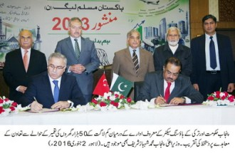 TOKI will assist in construction of 50 thousand low cost houses in Punjab