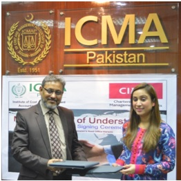 ICMA and CIMA UK signs MoA to develop Management Accountancy