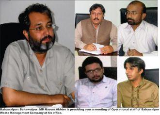 MD Bahawalpur Waste Management Company Naeem Akhtar