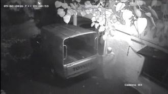 police van is being stolen