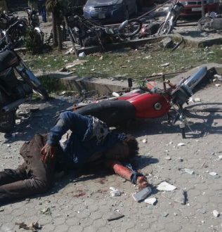 Atleast 8 people died in a heavy explosion in DHA,Lahore