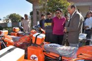 Deputy Commissioner Muzaffar Sial distributed 26 motorcycles among local field staff