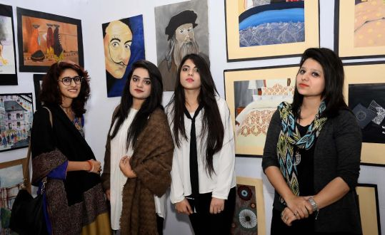 Young Artist presents Art pieces at GCU Annual Fine Arts Exhibition