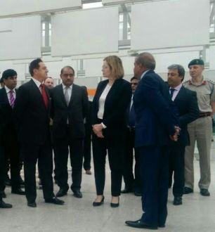 British Home Secretary visited new Islamabad International airport