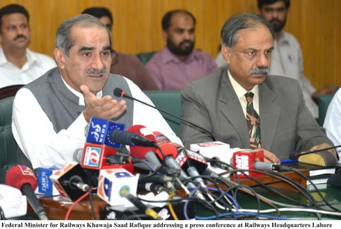 ML-1 track would be upgraded for speed of 160 km/hour : Kh Saad Rafiq