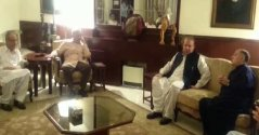 PM Nawaz and CM Shahbaz visited Ch House for condolence