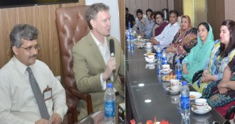US consulate members visit Punjab University ISCS | Lahore News