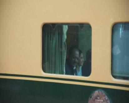President Mamnoon Hussain journeyed through train
