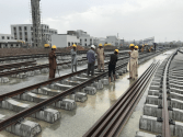 The apex court team review Orange Line Metro Train project