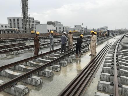 The apex court team review Orange Line Metro Train project