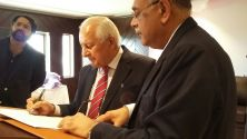 Najam Sethi hosted farewell ceremony for Shaharyar Khan