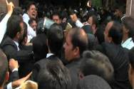 Lawyers stormed at Lahore High Court
