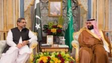 Prime Minister Abbasi visits Saudi Arabia ,met Crown Prince