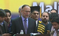 Govt making efforts to end protest through negotiation: Ahsan Iqbal