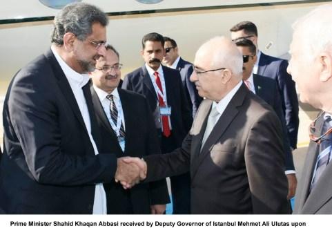 Shahbaz Sharif reached Istanbul along with Prime Minister Shahid Khaqan Abbasi