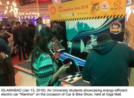 "Air University students launches energy-efficient vehicle ""Markhor"""