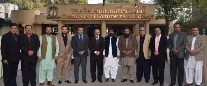 A delegation of SCCI visit to FPCCI Regional Office Lahore