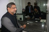 PM Abbasi gets his driver's licence renewed from the general public counter