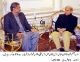 Prime Minister Shahid Khaqan Abbasi met Shahbaz Sharif