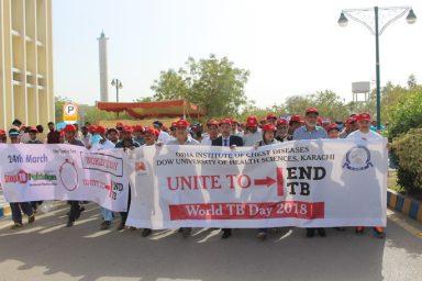DOW University organizes awareness Walk and Seminar on The TB DAY