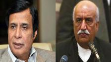Khursheed Shah discuss interim PM names with Ch Pervaiz Elahi