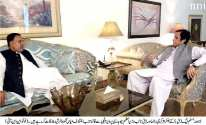 Mian Mehmood ur Rasheed called on Ch Pervaiz Elahi