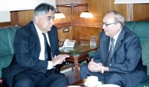 Caretaker Minister Zia Haider Rizvi called on CJ LHC