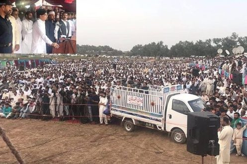 "Ch Nisar launches his election campaign amid "" Go Nawaz Go "" slogans"