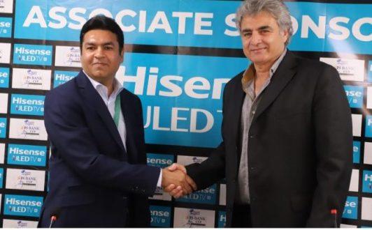 Hisense will sponsor  upcoming Pakistan and Australia series