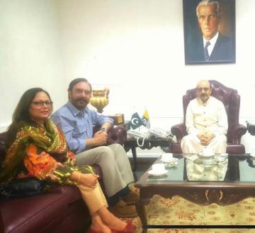 Ansar Burney calls on president AJK