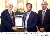 Dr James called on acting Governor Punjab Ch Pervaiz Elahi