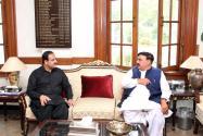 Sheikh Rasheed calls on CM Punjab Usman Buzdar