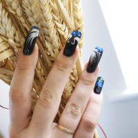 Latest fashion of long nails for girls